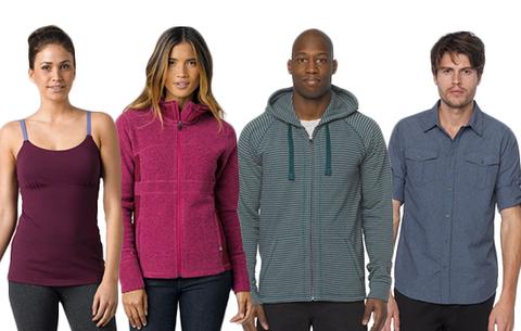 A selection of prAna apparel